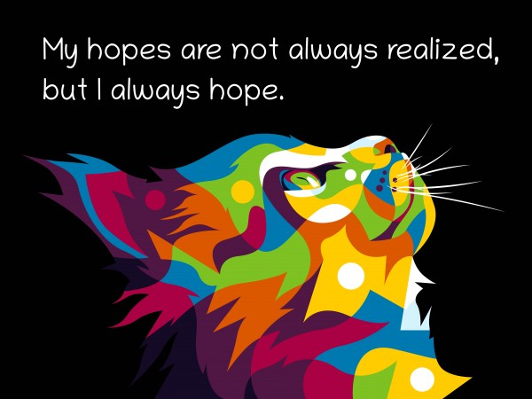 Colorful Hope full of cats by wpaprint