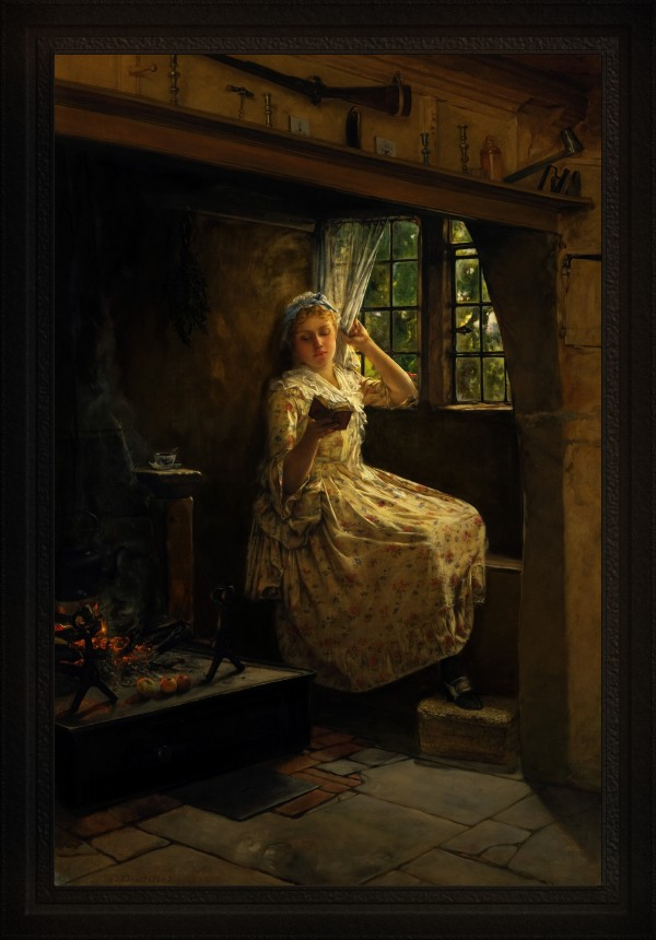 A Cosey Corner by Frank Millet Old Masters Classical Fine Art Reproduction by xzendor7