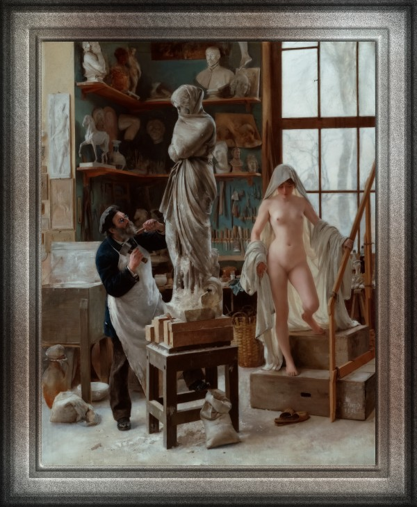 A Restoration by Edouard Joseph Dantan Classical Art Old Masters Reproduction by xzendor7
