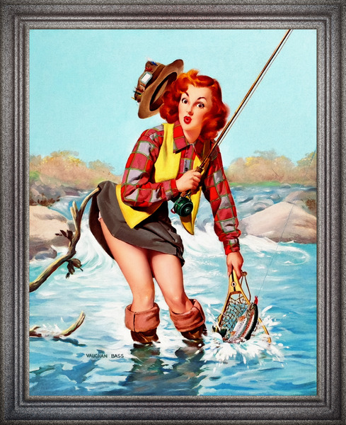 A Double Catch by Vaughan Alden Bass Pin-Up Girl Vintage Artwork by xzendor7