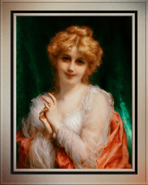 A Golden Haired Beauty by Etienne Adolphe Piot Classical Fine Art Reproduction by xzendor7