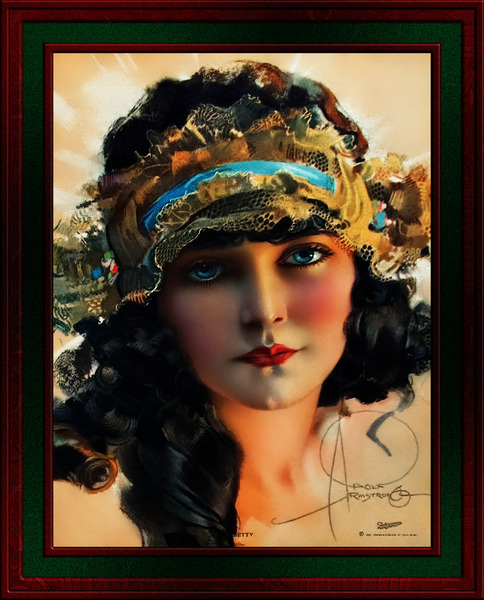 A Lovely Boudoir Bandeau On A 1920s Beauty by Rolf Armstrong Vintage Fine Art Xzendor7 Old Masters Reproductions by xzendor7