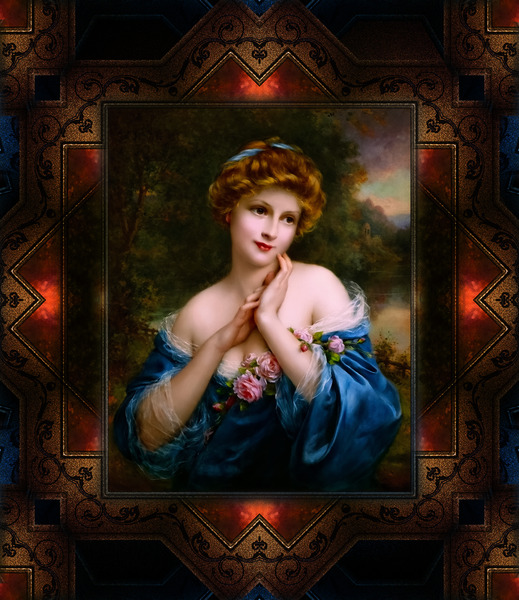 A Summer Rose The Golden Peaks by Francois Martin-Kavel Vintage Fine Art Xzendor7 Old Masters Reproductions by xzendor7