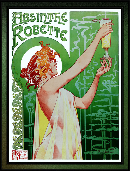 Absinthe Robette by Henri Privat-Livemont - Xzendor7 Wall Decor Artwork Reproductions by xzendor7