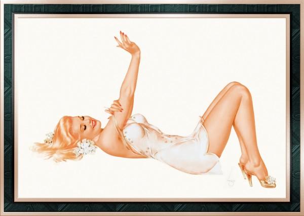 Admiration by Alberto Vargas Pin-Up Girl Vintage Artwork by xzendor7