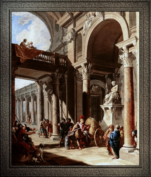 Alexander the Great Cutting the Gordian Knot by Giovanni Paolo Pannini by xzendor7
