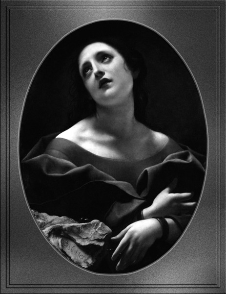 Allegory of Patience by Carlo Dolci Black and White Xzendor7 Old Masters Art Reproductions by xzendor7