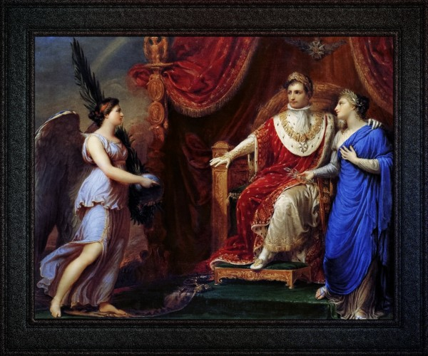 Allegory on the Peace of Pressburg by Andrea Appiani Classical Fine Art Old Masters Reproduction by xzendor7