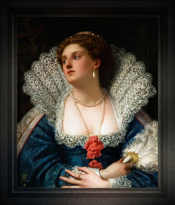 Amy Robsart by William Frederick Yeames Old Masters Classical Art Reproduction by xzendor7