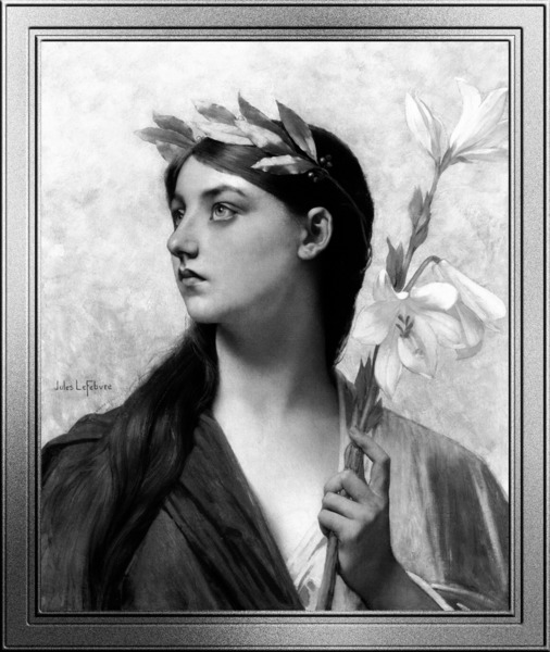 An Allegory of Victory by Jules Joseph Lefebvre Black and White Xzendor7 Old Masters Art Reproductions by xzendor7