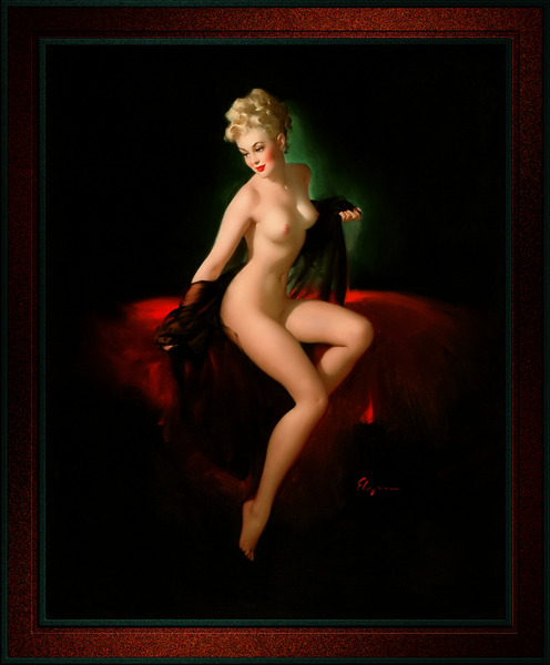 An American Beauty by Gil Elvgren Vintage Art Xzendor7 Old Masters Reproductions by xzendor7
