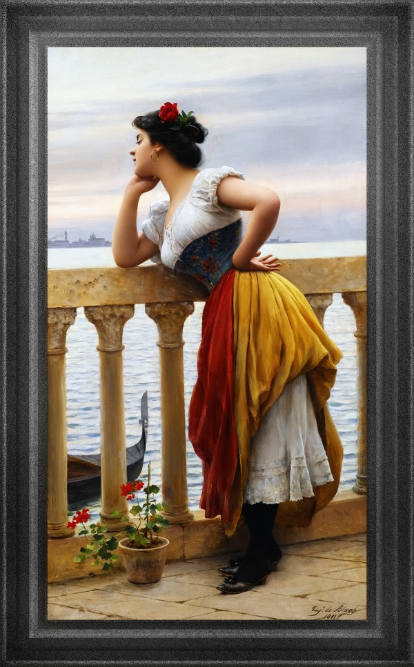 Anticipation by Eugene de Blaas Classical Art Old Masters Reproduction by xzendor7