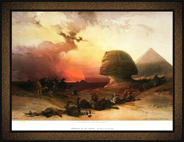 Approach of the Simoom Lithograph by Louis Haghe Old Masters Classical Fine Art Reproduction by xzendor7
