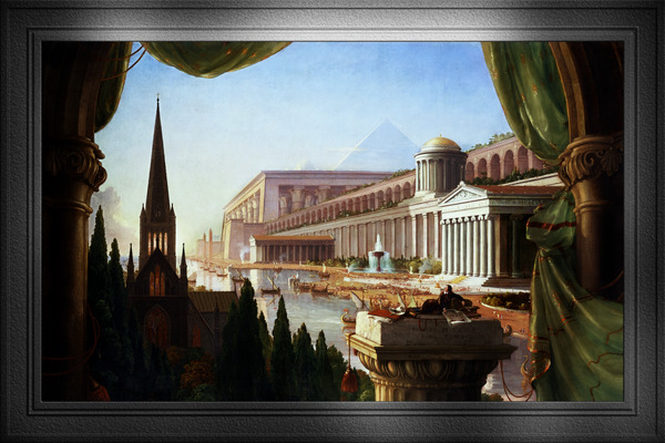 Architects Dream by Thomas Cole Classical Fine Art Xzendor7 Old Masters Reproductions by xzendor7