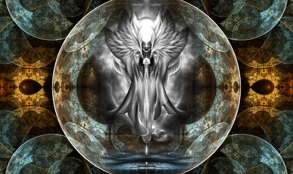 Arsencia Ghost Shadow Fractal Art Portrait by xzendor7