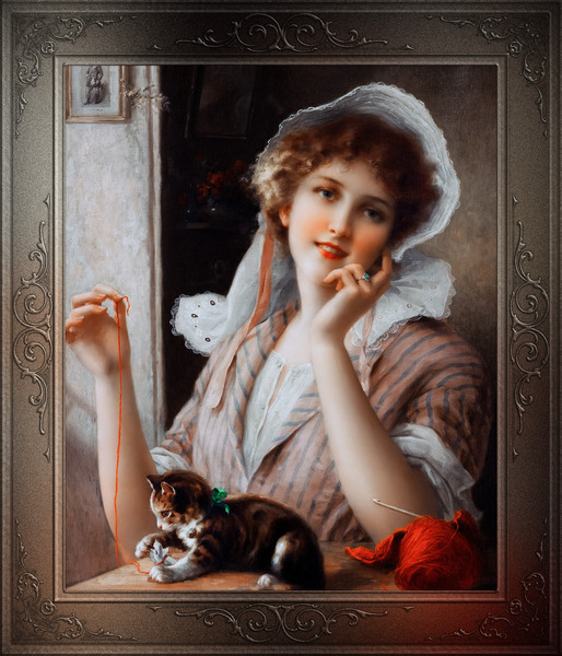 At Play byEmile Vernon Vintage Fine Art Xzendor7 Old Masters Reproductions by xzendor7
