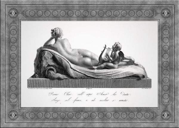 Back view of Venus Reclining Accompanied by Cupid by Antonio Canova Classical Fine Art Xzendor7 Old Masters Reproductions by xzendor7