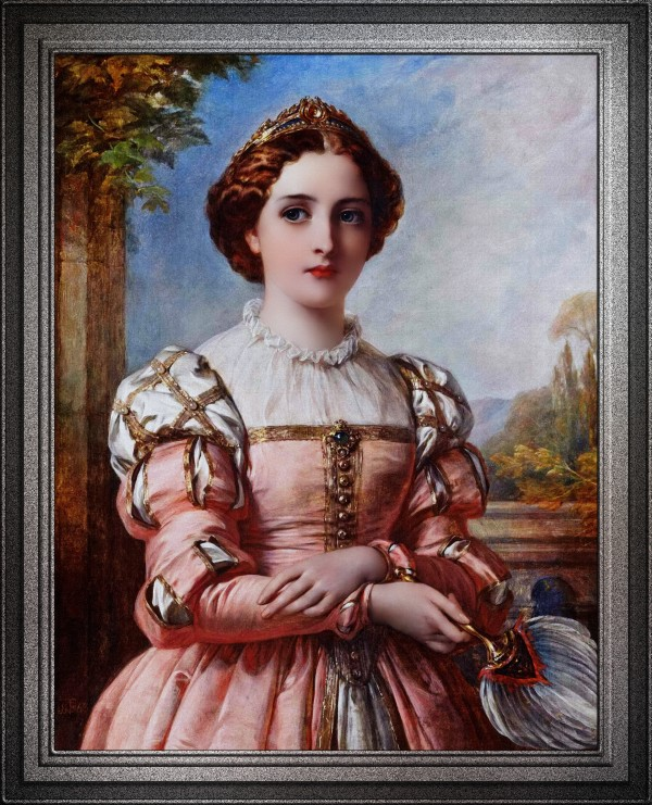 Beatrice by Thomas-Francis Dicksee Old Masters Fine Art Reproduction by xzendor7