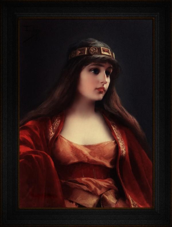 Bedouin Girl by Luis Ricardo Falero Classical Fine Art Reproduction by xzendor7