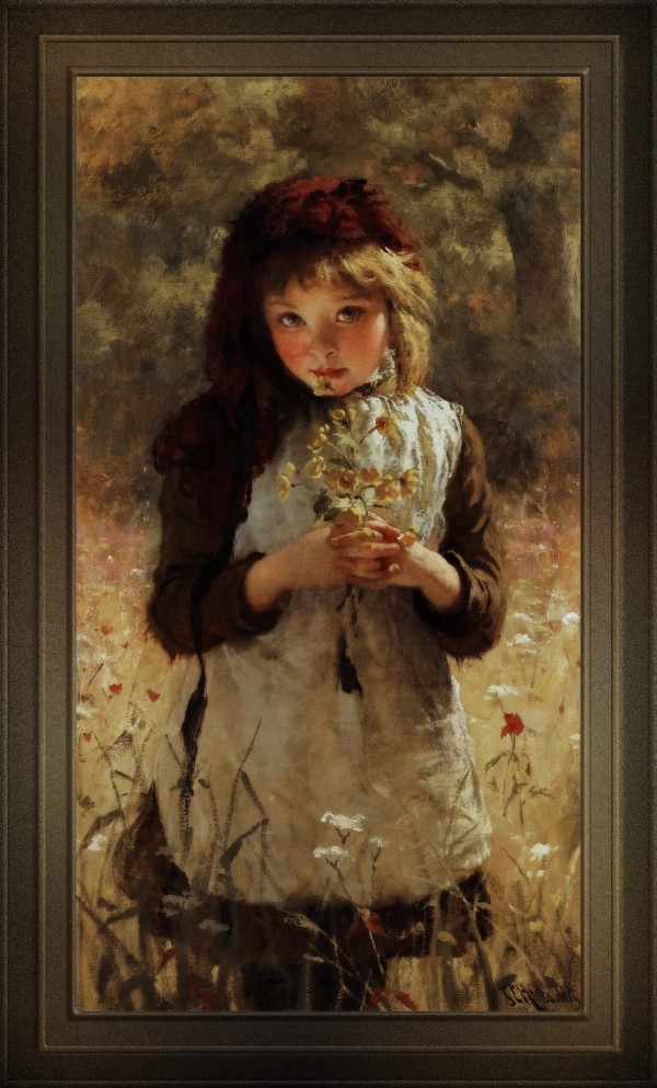 Buttercups by George Elgar Hicks Classical Fine Art Old Masters Reproduction by xzendor7