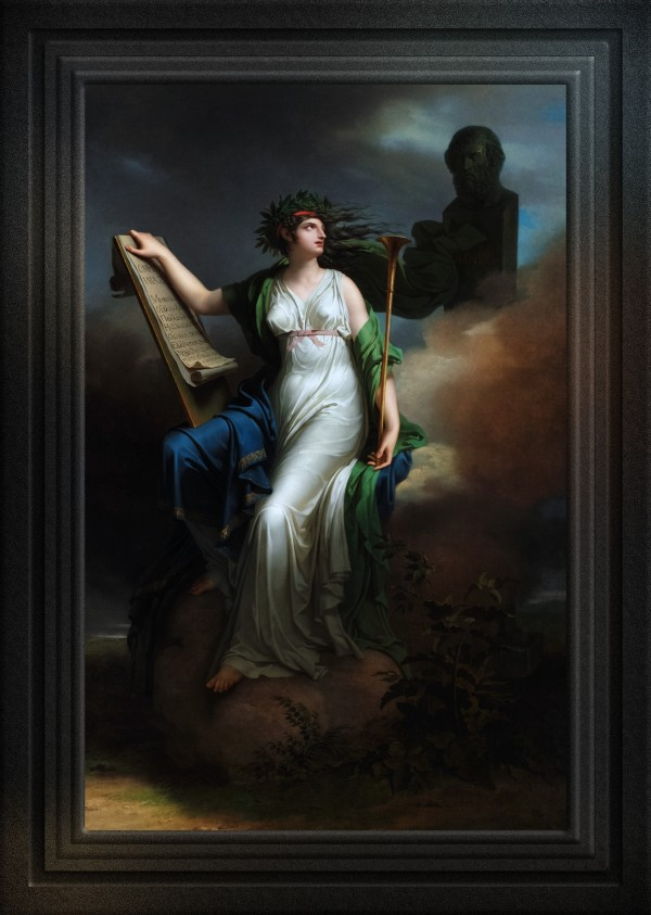 Calliope Muse of Epic Poetry by Charles Meynier Old Masters Classical Art Portrait Reproduction by xzendor7
