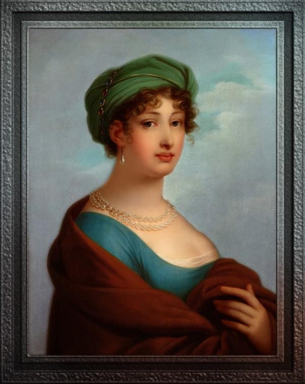 Caroline Duchess of Saxe-Gotha-Altenburg by Paul Emil Jacobs Old Masters Fine Art Reproduction by xzendor7