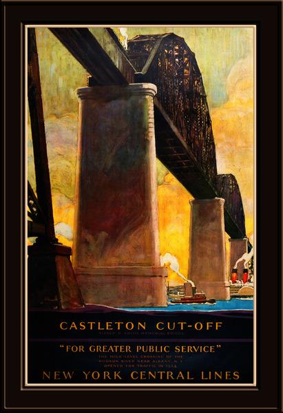 Castleton Cut-Off Alfred H. Smith Memorial Bridge New York Central Lines by xzendor7