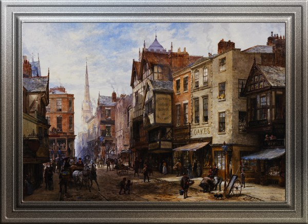 Chester - The Cross Looking Towards Watergate Street by Louise Ingram Rayner Old Masters Classical Art Reproduction by xzendor7