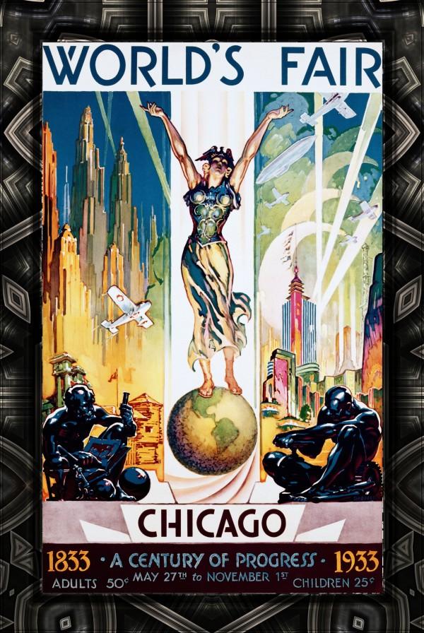 Chicago Worlds Fair - A Century of Progress Vintage Art Poster by xzendor7