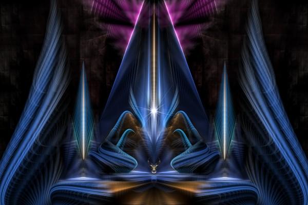 The Citadel Of Light Fractal Art Composition by xzendor7