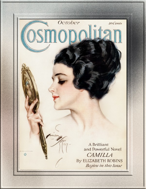 Cosmopolitan Front Cover October 1917 by Harrison Fisher Fine Art Old Masters Reproduction by xzendor7