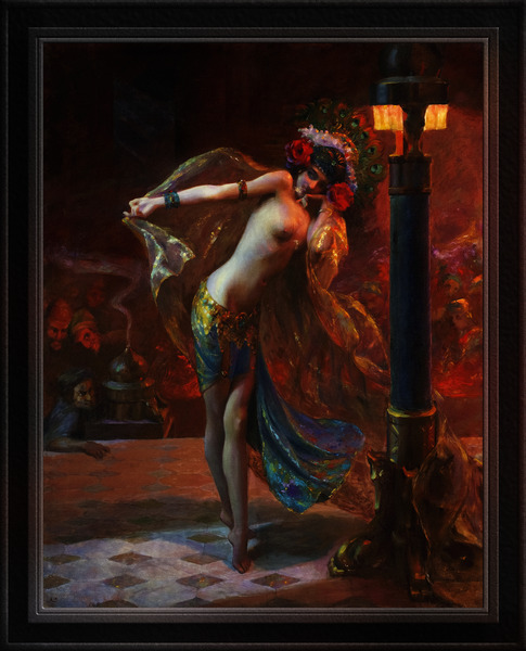 Dance of the Seven Veils by Gaston Bussiere Classical Fine Art Xzendor7 Old Masters Reproductions by xzendor7