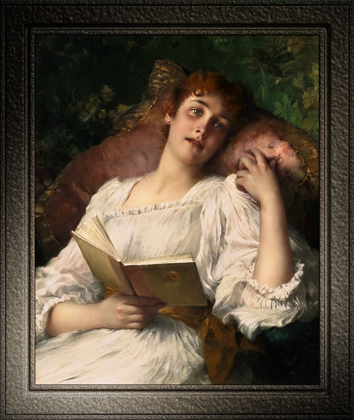Day Dreaming by Conrad Kiesel Xzendor7 Old Masters Reproductions by xzendor7