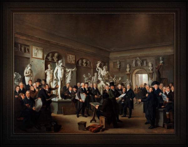 De Beeldenzaal Van De Maatschappij Felix Meritis by Adriaan de Lelie Old Masters Classical Fine Art Reproduction by xzendor7