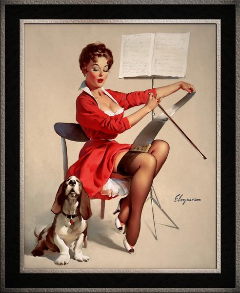 Doggone Good by Gil Elvgren Vintage Pinup Illustration Xzendor7 Old Masters Reproductions by xzendor7