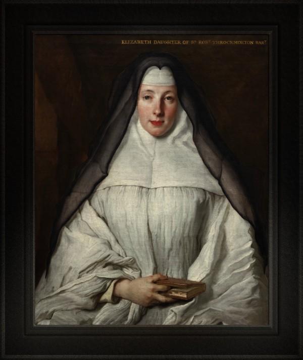 Elizabeth Throckmorton Canoness Order Of Dames by Nicolas De Largillerre Classical Fine Art Reproduction by xzendor7