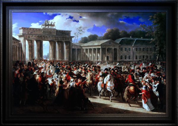 Entry of Napoleon I into Berlin by Charles Meynier Classical Fine Art Reproduction by xzendor7