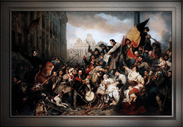 Episode of the September Days 1830 by Gustave Wappers Classical Fine Art Xzendor7 Old Masters Reproductions by xzendor7