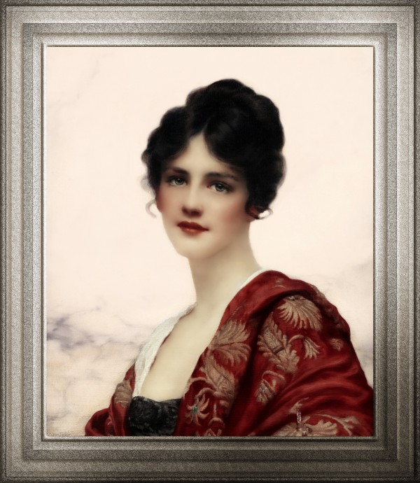 Esme by William Clarke Wontner Fine Art Classical Art Portrait Old Masters Reproduction by xzendor7