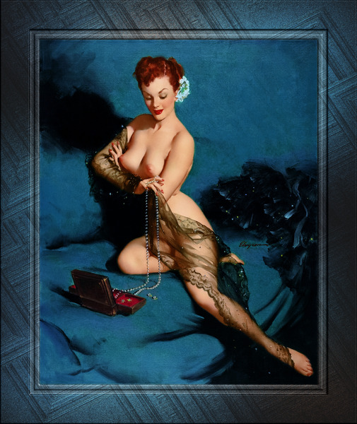 Fascination by American Painter Gil Elvgren Vintage Illustrations Xzendor7 Old Masters Reproductions by xzendor7