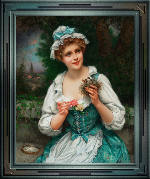 Feeding Time by Francois Martin-Kavel Vintage Fine Art Xzendor7 Old Masters Reproductions by xzendor7