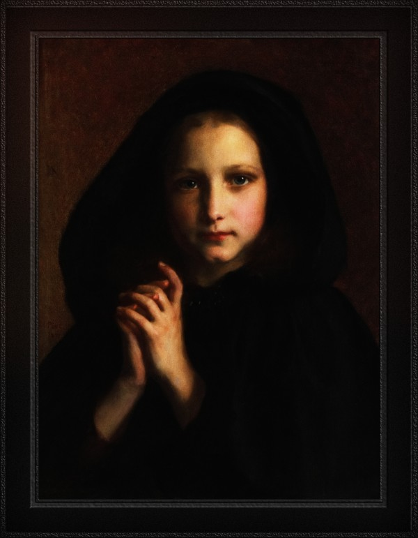 Femme Dans Un Manteau by Adolphe Piot Classical Fine Art Old Masters Reproduction by xzendor7