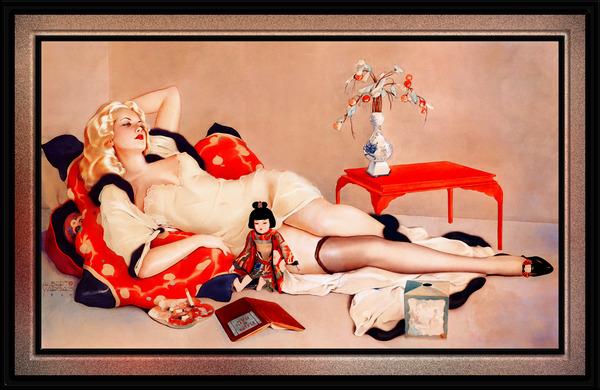 Fleurs du Mal by Alberto Vargas Vintage Pin-Up Girl Art by xzendor7