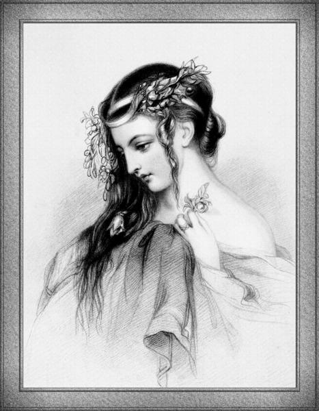 The Flower Girl Classical Art Illustration by xzendor7