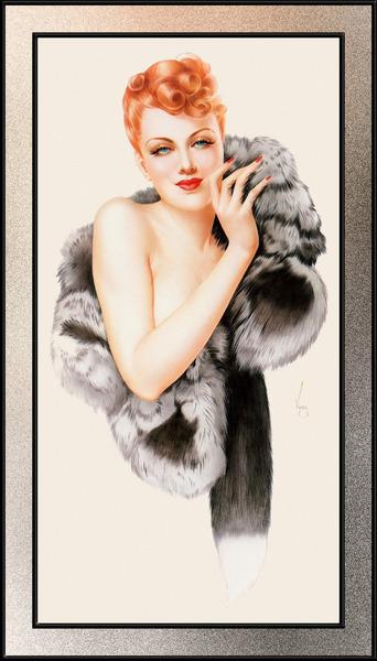 Fox by Alberto Vargas Pin-Up Girl Vintage Art by xzendor7