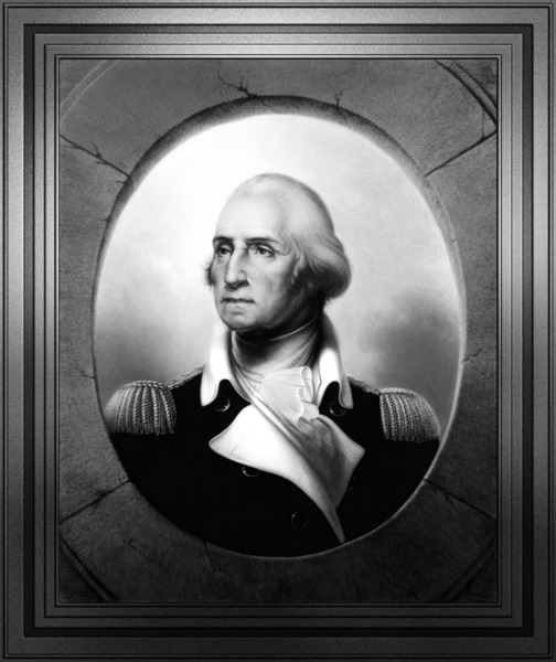 George Washington by Rembrandt Peale Black and White Xzendor7 Old Masters Art Reproductions by xzendor7