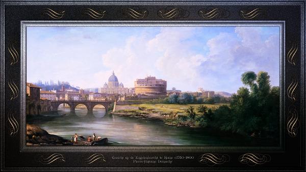 Gezicht op de Engelenburcht te Rome by Pierre-Antoine Demachy Classical Fine Art Xzendor7 Old Masters Reproductions by xzendor7
