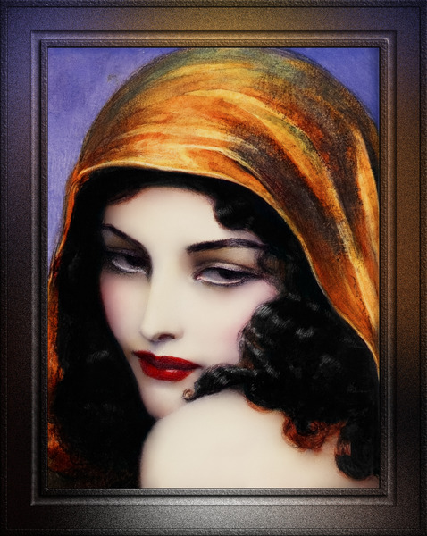 Gypsy by Polish Painter Wladyslaw Theodor Benda Classical Art Xzendor7 Old Masters Reproductions by xzendor7