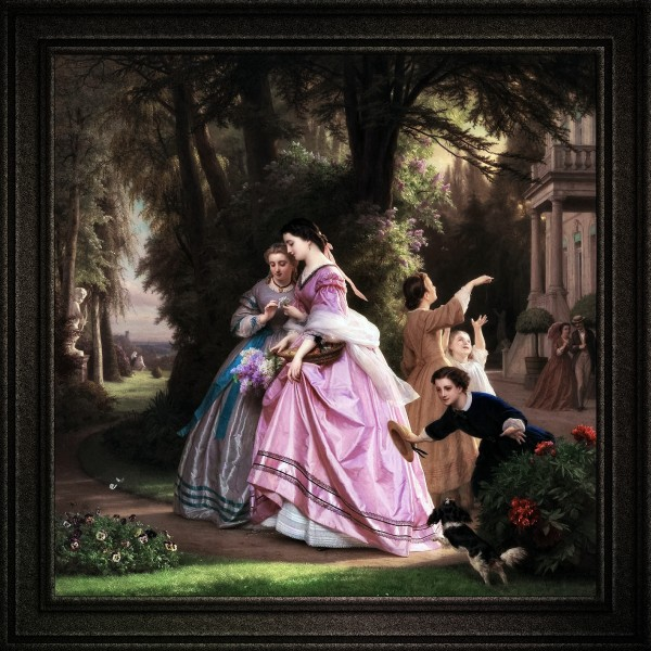 He Loves Me He Loves Me Not by Josephus Laurentius Dyckmans Old Masters Classical Fine Art Reproduction by xzendor7