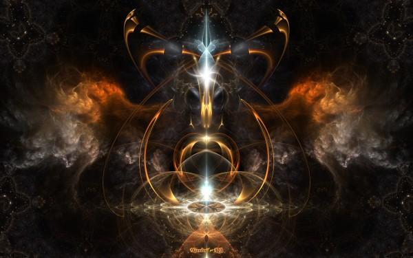 The Wings Of Fire Fractal Art by xzendor7